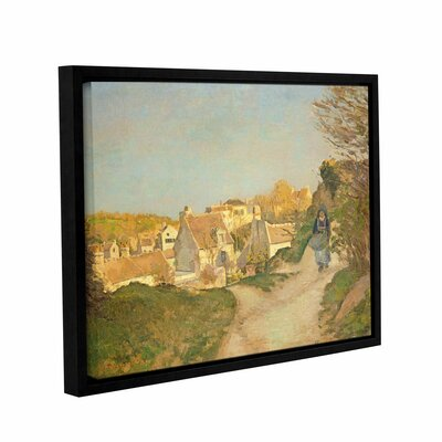 The Hill at Jallais, Pontoise, 1875 Framed Painting Print on Wrapped Canvas Size: 14