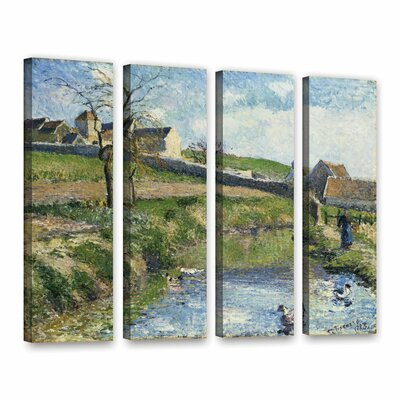 The Farm at Onsy, 1883 4 Piece Painting Print on Wrapped Canvas Set Size: 24
