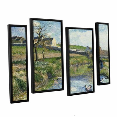 The Farm at Onsy, 1883 4 Piece Framed Painting Print on Canvas Set Size: 24