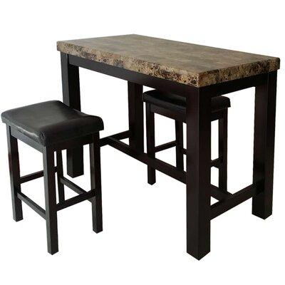 Earnshaw 3 Piece Pub Table Set