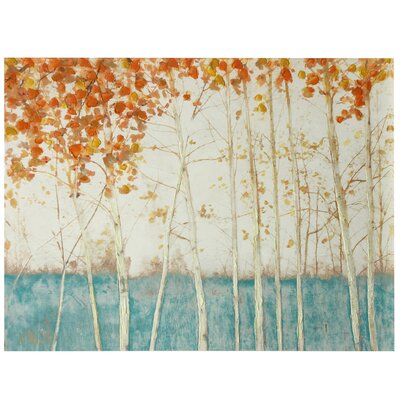 Birch Tree Landscape Painting Print on Canvas