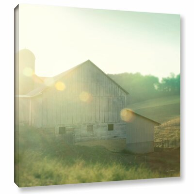 Farm Morning II Square Photographic Print on Wrapped Canvas Size: 10