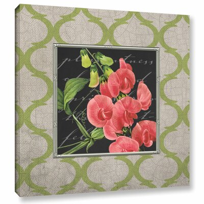 Sweat Pea Graphic Art on Wrapped Canvas
