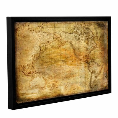 Vintage Map II Framed Graphic Art on Wrapped Canvas