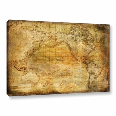Vintage Map II Graphic Art on Wrapped Canvas Size: 12