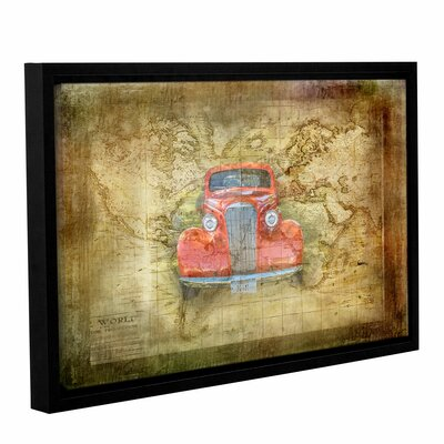 Vintage Car Framed Graphic Art on Wrapped Canvas
