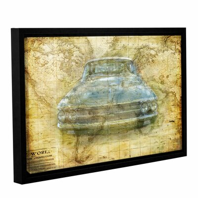 Vintage Framed Graphic Art on Wrapped Canvas