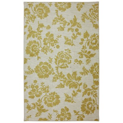 Fuhrmann Freemont Sunset Pale Yellow Area Rug Rug Size: 5 x 8