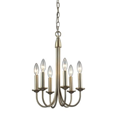 Goodrum 6-Light Candle-Style Chandelier Finish: Oil Rubbed Bronze