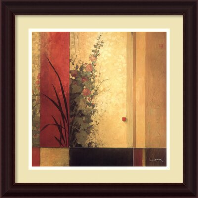 Hollyhock Garden Framed Painting Print