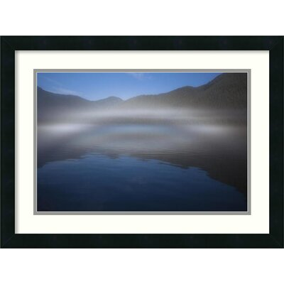 Ocean Fog Lifting off the Water at the Mouth of Kynoch Inlet, British Columbia, Canada Framed Photographic Print