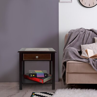 Ambudkar End Table With Storage