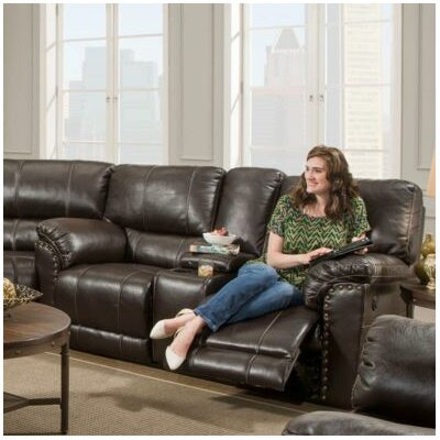Fisher Motion Console Reclining Sofa Type: Power