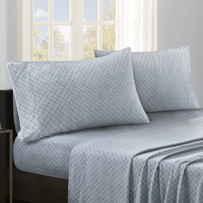 Hughley Sheet Set Size: Queen, Color: Blue Diamond