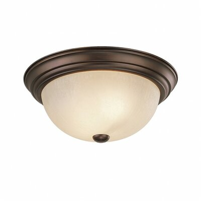Farrell 2-Light Flush Mount Size: 6 H x 13 W