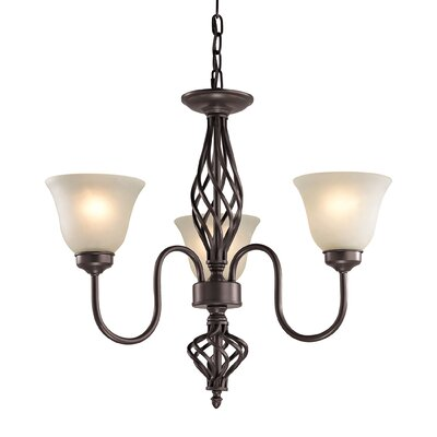 Battersby 3-Light Shaded Chandelier