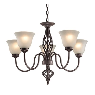 Battersby 5-Light Shaded Chandelier