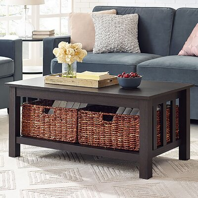 Stillman Wood Storage Coffee Table Finish: Espresso