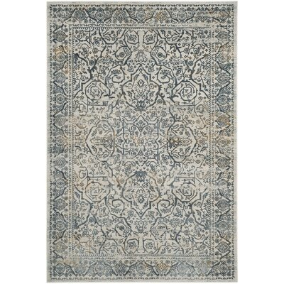 Madrid Cream/Slate Area Rug Rug Size: 51 x 76