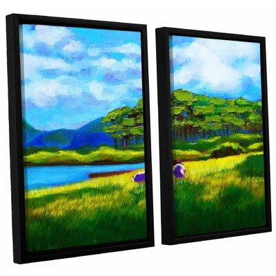 Scottish Grazers 2 Piece Framed Painting Print Set