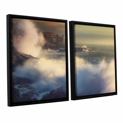 A Fresh Water Explosion 2 Piece Framed Painting Print