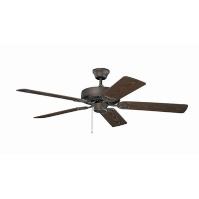 Magner 52 Patio 5-Blade Ceiling Fan Finish: Brushed Nickel