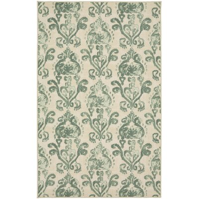 Hodgins Beige/Green Area Rug Rug Size: Rectangle 5 x 8