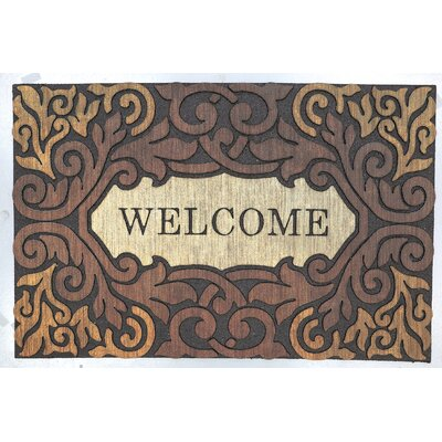 Longnecker Estate Scroll Border Welcome Doormat