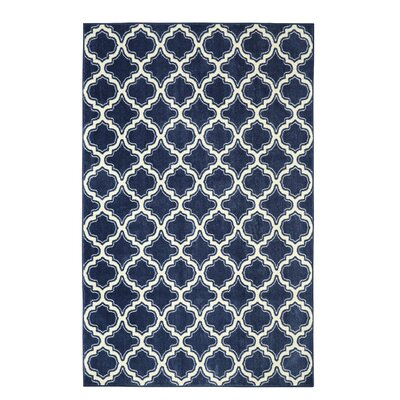 Latimer Calabasas Uno Blue Area Rug Rug Size: Rectangle 76 x 10
