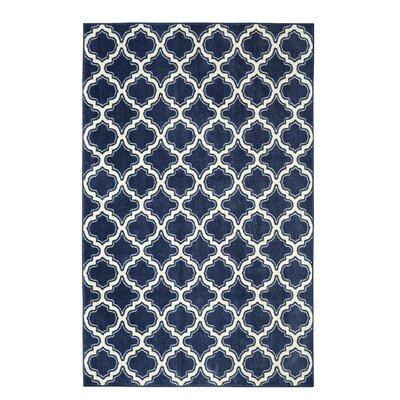 Latimer Calabasas Uno Blue Area Rug Rug Size: 5' x 8'