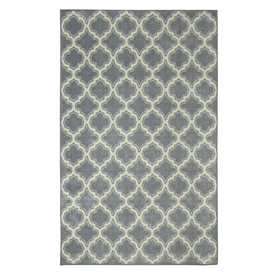 Latimer Gray Area Rug Rug Size: Rectangle 5 x 8
