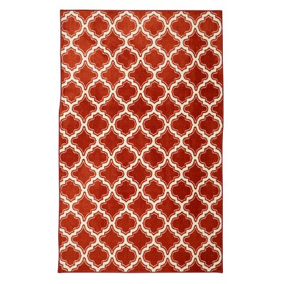 Latimer Red Area Rug Rug Size: 7'6 x 10'