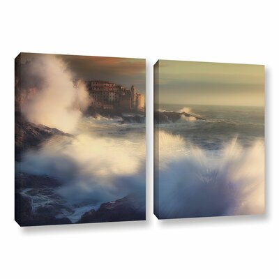 A Fresh Water Explosion 2 Piece Painting Print on Wrapped Canvas Set