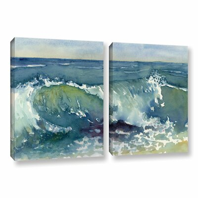 Shore Break 2 Piece Painting Print on Canvas Set Size: 18