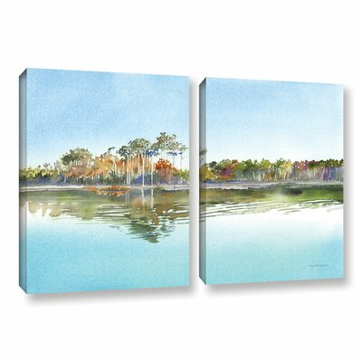 Morning Calm 2 Piece Painting Print on Canvas Set Size: 18