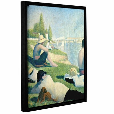 Bathers at Asnieres Framed Painting Print on Canvas