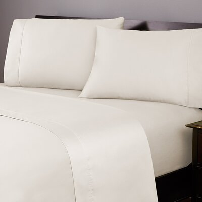 Labat 400 Thread Count 100% Cotton Sheet Set Size: Full, Color: Ivory