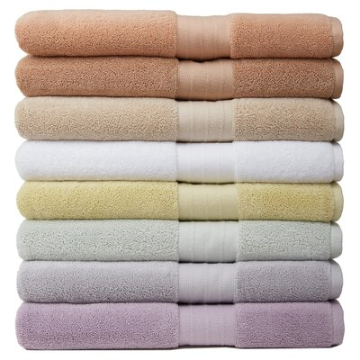 6 Piece Luxury Turkish Towel Set Color: Salmon