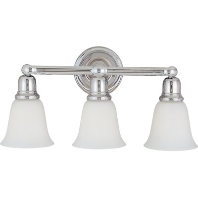 Sherrard 3-Light Vanity Light Finish/Shade Color: Soft vanilla/oil rubbed bronze