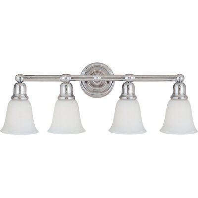 Sherrard 4-Light Vanity Light Finish/Shade Color: White/Polished Chrome