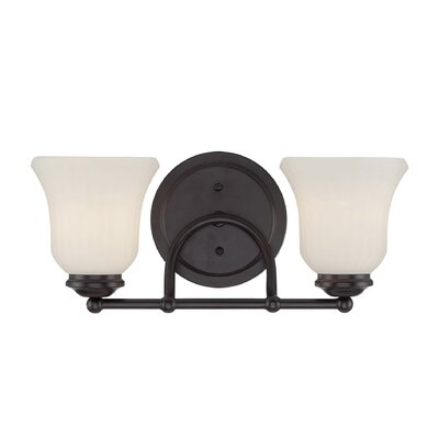 Sycamore 2-Light Vanity Light Finish: Satin Nickel