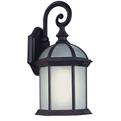 Childers 1-Light Outdoor Wall Lantern Finish: Black