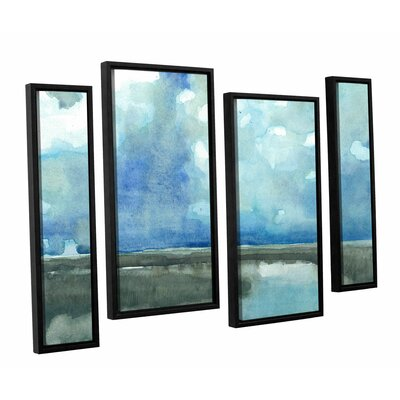 Meandering Stream 4 Piece Framed Painting Print on Canvas Set Size: 24