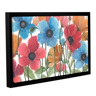 Garden Beauties Framed Painting Print on Wrapped Canvas Size: 12