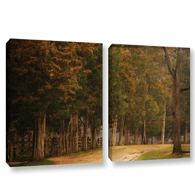 A Road Less Traveled 2 Piece Painting Print on Wrapped Canvas Set Size: 18