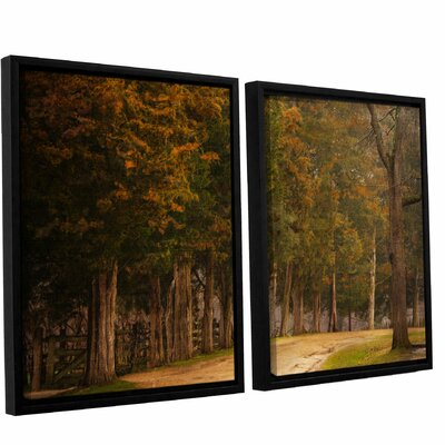 A Road Less Traveled 2 Piece Framed Painting Print on Canvas Set Size: 24