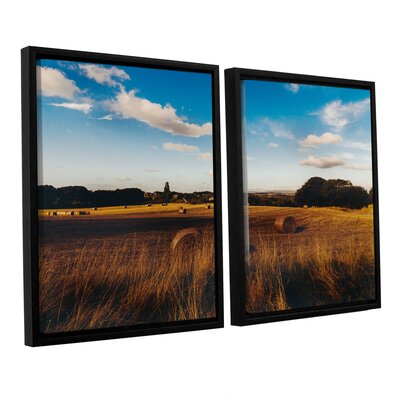 Open Fields 2 Piece Framed Photographic Print on Wrapped Canvas Set