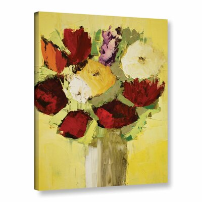 Lovely Bouquet Painting Print on Wrapped Canvas