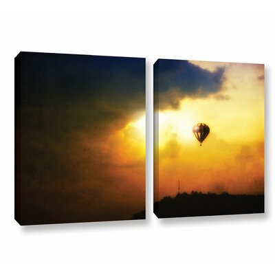 Close Enough 2 Piece Photographic Print on Wrapped Canvas Size: 18