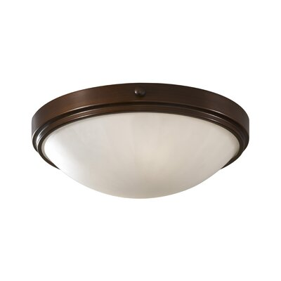Clouser 2-Light Flush Mount Shade Size: 12.125 W